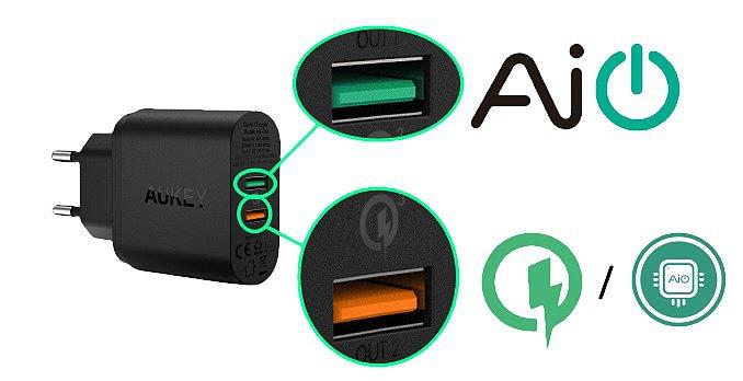 Зарядные устройства с Ai Power от Aukey