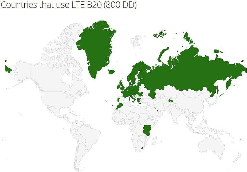 LTE Band 20 в Украине