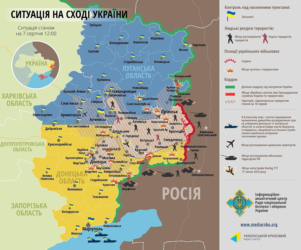 Сотовая связь в зоне АТО Украина
